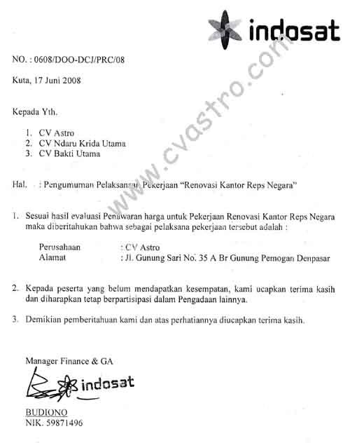 Surat Referensi Indosat