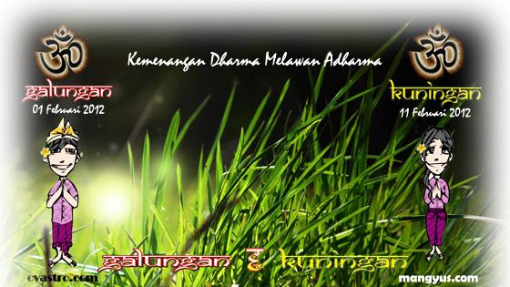 Selamat Hari Raya Galungan Kuningan Februari 2012