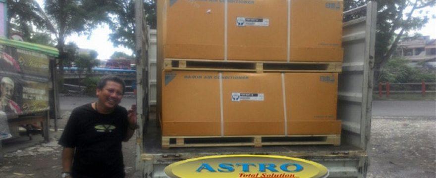AC Daikin Split Duct 10 PK ke RSUD Buol Palu