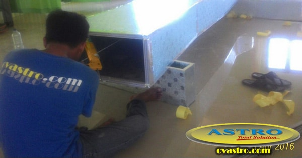 Instalasi AC Split Duct Daikin 10 PK di RSUD Buol