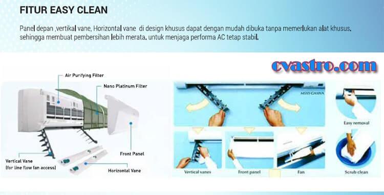 Easy Clean AC Mitsubishi